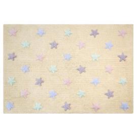 Tapis enfant vanille en coton Tricolor Stars Lorena Canals