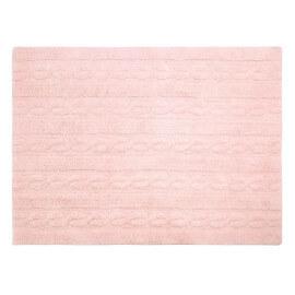 Tapis pour enfant rose pastel en coton Trenzas Lorena Canals