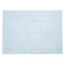 Tapis pour enfant bleu pastel en coton Trenzas Lorena Canals
