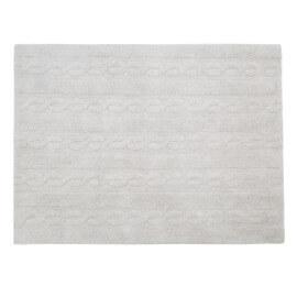 Tapis pour enfant gris perle en coton Trenzas Lorena Canals