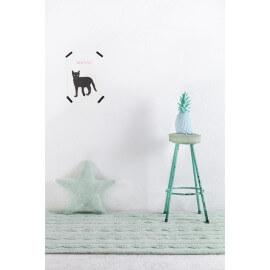 Tapis pour enfant menthe pastel en coton Trenzas Lorena Canals