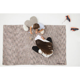 Tapis moderne rose Mix Collection Nancy par Lorena Canals