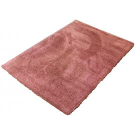 Tapis doux en polyester rose shaggy Marnie