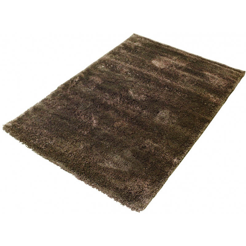 tapis shaggy en polyester doux taupe pour int rieur tribar. Black Bedroom Furniture Sets. Home Design Ideas