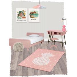 Tapis moderne pour bébé rose en coton Frida Nattiot