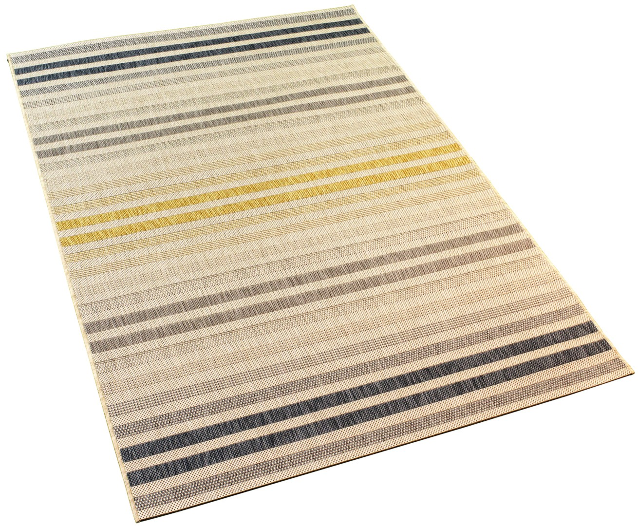 tapis plat moderne int rieur et ext rieur en polypropyl ne bleu tusso. Black Bedroom Furniture Sets. Home Design Ideas