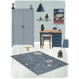 Tapis Little Galaxy pour enfant en coton Nattiot