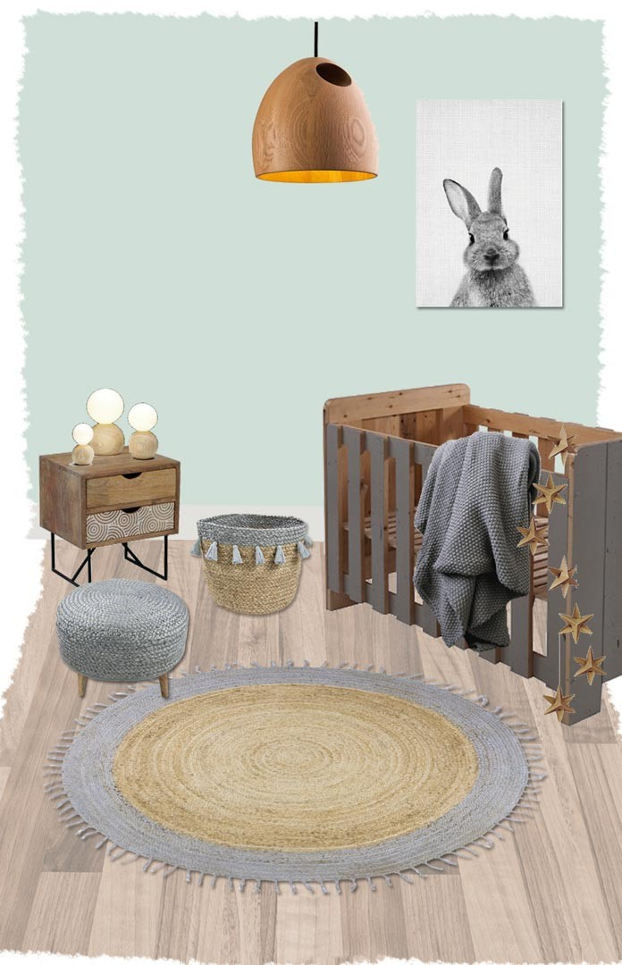 tapis rond en jute avec franges pour chambre d 39 enfant aslesha nattiot. Black Bedroom Furniture Sets. Home Design Ideas