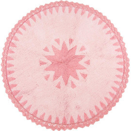 Tapis bébé lavable en machine en coton rose Warren Nattiot