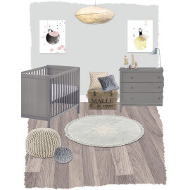 Tapis bébé lavable en machine en coton naturel Warren Nattiot