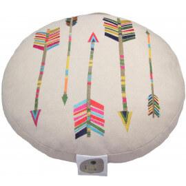 Coussin brodé en coton ethnique Arrow Nattiot
