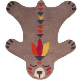 Tapis en forme d'ours en laine pour chambre d'enfant Akko Nattiot