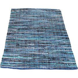 Tapis bleu en coton pour jeune habitat Charleston