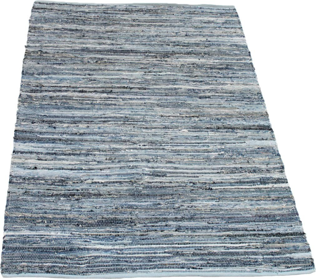 tapis bleu et blanc plat rectangle denim. Black Bedroom Furniture Sets. Home Design Ideas