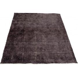 tapis en laine et bambou vintage noir bamboo - Tapis Noir