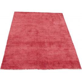 Tapis en laine et bambou vintage rouge Bamboo