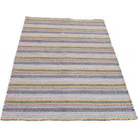 Tapis multicolore en laine ethnique Dots