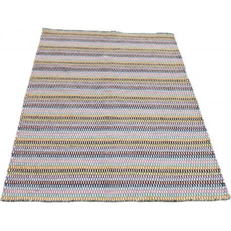 tapis multicolore en laine ethnique dots - Tapis Multicolore
