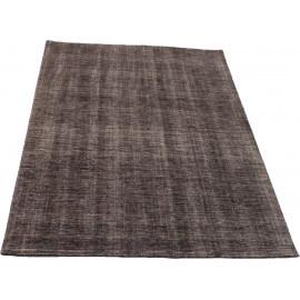 Tapis rectangulaire en laine taupe Maori