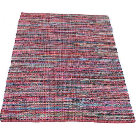 tapis tiss main pour jeune habitat rouge et rose ragtime - Tapis Habitat