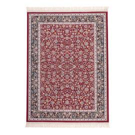 Tapis d'orient en acrylique rouge Isfahan