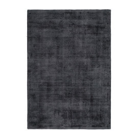 Tapis effet soie en viscose fait main graphite Premium