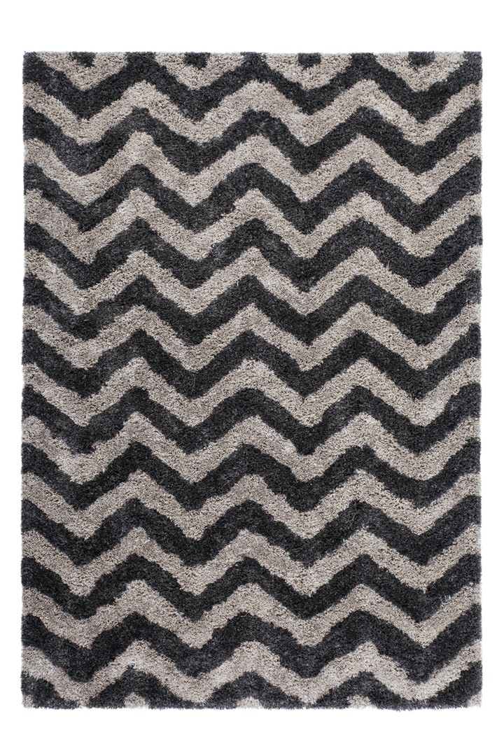Tapis contemporain shaggy doux Grace