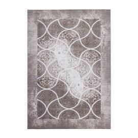Tapis en acrylique et polyester beige avec Lurex Daphne