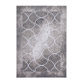 Tapis en acrylique et polyester argenté avec Lurex Daphne