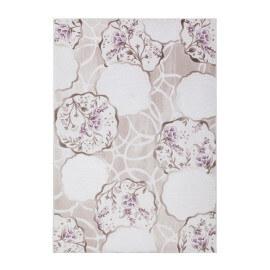 Tapis lila à motifs fleuris effet 3D brillant Prisma