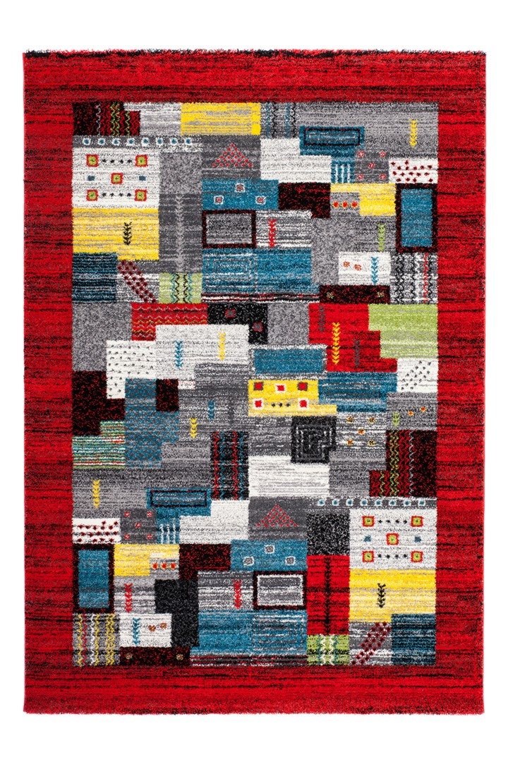 tapis color rouge en polypropyl ne ethnique kanpur. Black Bedroom Furniture Sets. Home Design Ideas
