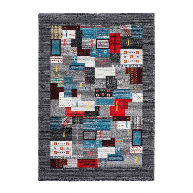tapis color argent en polypropyl ne ethnique kanpur. Black Bedroom Furniture Sets. Home Design Ideas