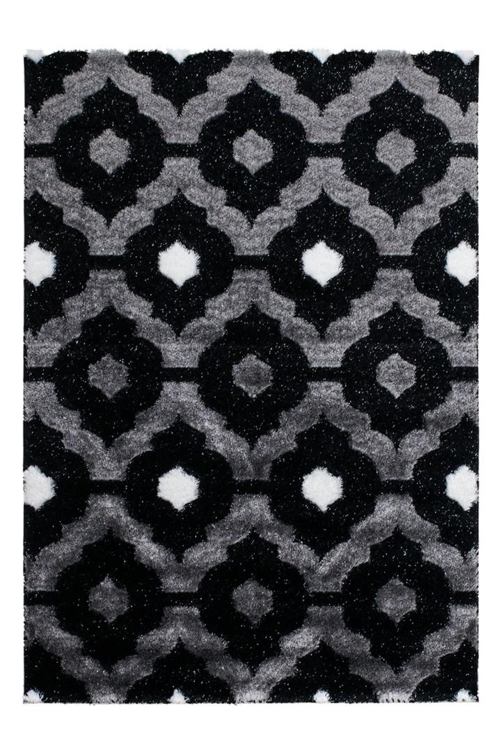 tapis brillant noir style baroque effet 3d gaya. Black Bedroom Furniture Sets. Home Design Ideas