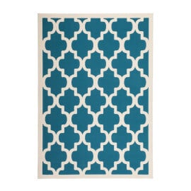 Tapis style scandinave turquoise effet 3D Amber