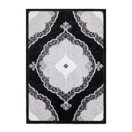 Tapis style baroque noir brillant Lana