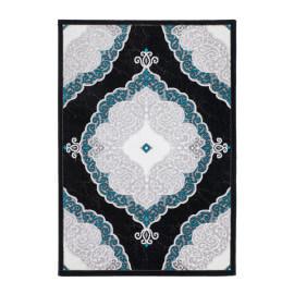 Tapis style baroque turquoise brillant Lana