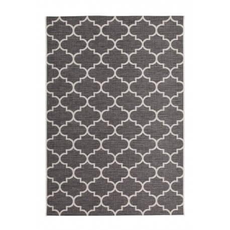 Tapis moderne gris extérieur et intérieur effet sisal Bobo
