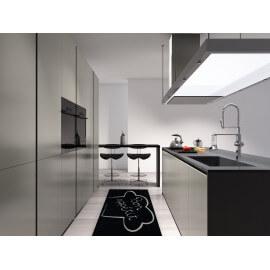 Tapis de cuisine noir lavable en machine en Nylon Cuisto