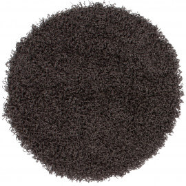 Tapis rond uni anthracite Hollywood