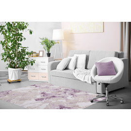 Tapis de salle à manger lila avec effet 3D Indila
