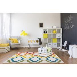 Tapis design en polypropylène multicolore Smarty