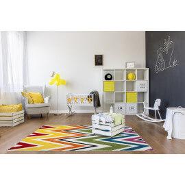 Tapis multicolore design à courtes mèches Ballarat