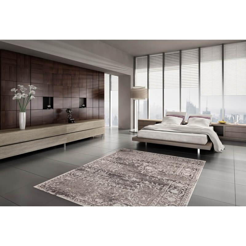 tapis pas cher vintage argent casa. Black Bedroom Furniture Sets. Home Design Ideas