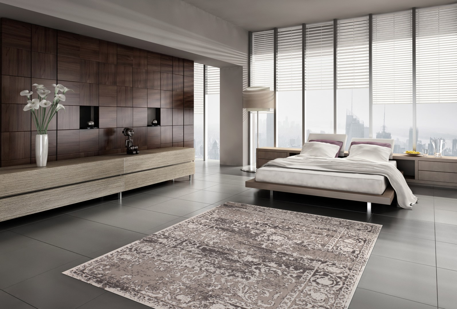 tapis pas cher vintage argent casa. Black Bedroom Furniture Sets. Home Design Ideas