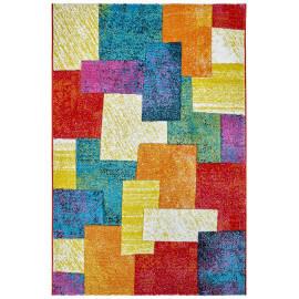 Tapis à courtes mèches d'intérieur multicolore Tim