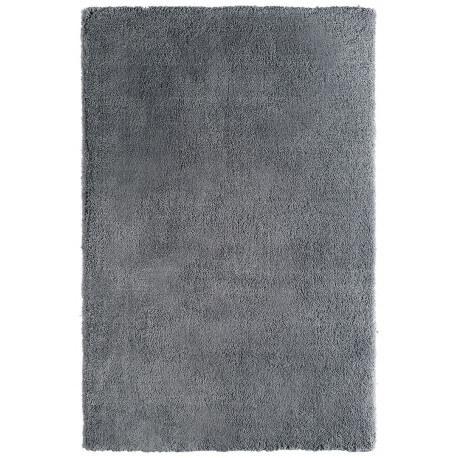 Tapis tufté main doux en polyester gris Nevio