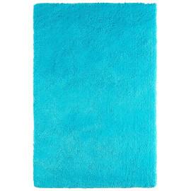 Tapis tufté main doux en polyester turquoise Nevio