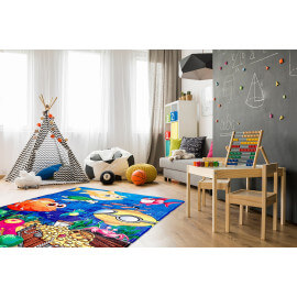Tapis multicolore lavable en machine enfant Sea