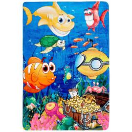 Tapis multicolore lavable en machine enfant Sea