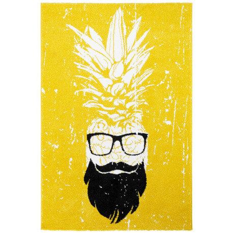 Tapis rectangle jaune tendance Hipster